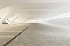Modern futuristisch leeg abstract binnenland Royalty-vrije Stock Fotografie