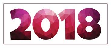 Modern futuristisch ontwerp van de tekst van 2018 Stock Foto's