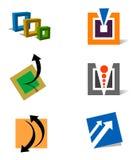 modern fyrkant för logoer Arkivbild