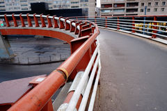 modern gångare för bro Arkivfoto