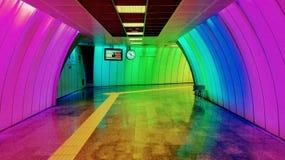 Modern gångtunnel av Istanbul royaltyfria bilder