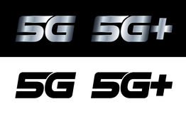 Modern 5G and 5G+ signs Royalty Free Stock Photography