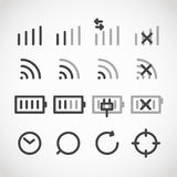 Modern gadget web icons collection Stock Photo
