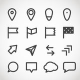 Modern gadget web icons collection Royalty Free Stock Images