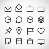 Modern gadget web icons collection Royalty Free Stock Photography