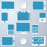 Modern gadgets collection Royalty Free Stock Photography