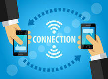 Modern gadgets help to connect people royalty free illustration