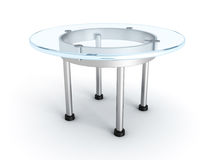 Modern galss table on a white background Stock Photo
