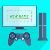 Modern game console Stock Images
