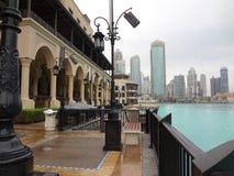 Modern gammal stad Mellanösten Dubai arkivfoton