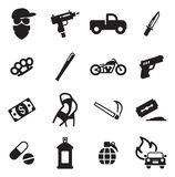 Modern Gangster Icons Royalty Free Stock Image