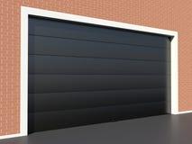 Modern garage door Stock Photo