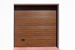 Modern garage door Stock Image