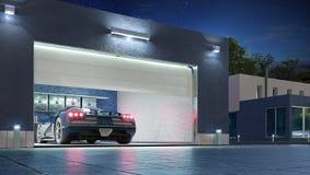 Free Modern Garage With Open Gate. Stock Photos - 167034853