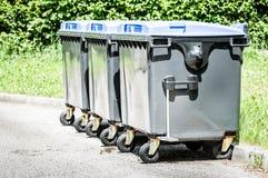 Modern garbage bin Royalty Free Stock Photo