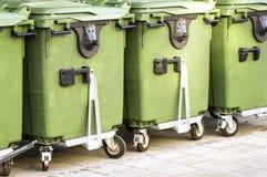 Modern garbage bin Stock Photo