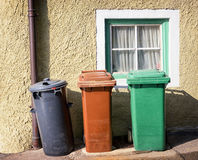 Modern garbage bins Royalty Free Stock Images