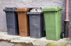Modern garbage bins Stock Image