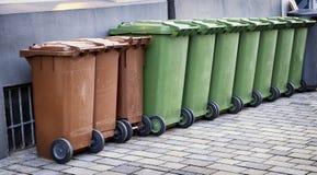 Modern garbage bins Stock Photos