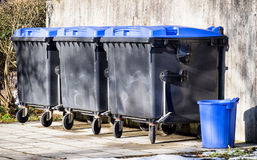 Modern garbage bins Royalty Free Stock Image
