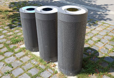 Modern garbage cans. Royalty Free Stock Photo