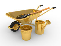Modern garden equipment Stock Image