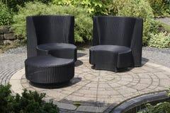 Modern garden furniture Stock Photos
