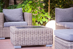 Modern garden furniture Stock Images