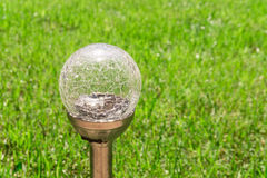 Modern garden lamp stock photography