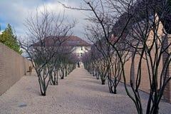 Modern garden in Vaduz, Liechtenstein Stock Image