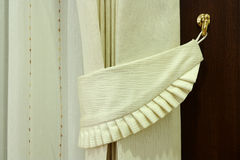 Modern gardin i hotell med kroken Arkivfoto