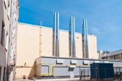 Modern gas boiler house Royalty Free Stock Image