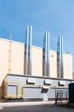 Modern gas boiler house Royalty Free Stock Photos