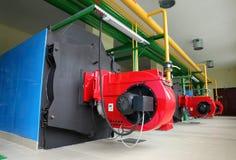 Modern gas boiler room Stock Photo