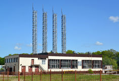 Modern gas boiler room in Kaliningrad Royalty Free Stock Photo