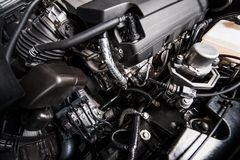 Modern Gas Car Engine Royalty Free Stock Photos
