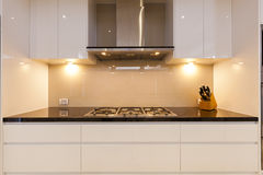 Modern gas cooktop Royalty Free Stock Images