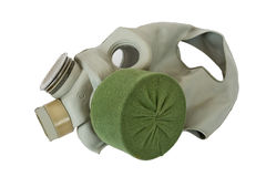 Modern gas mask. Russian modern gas mask on white background Stock Photos