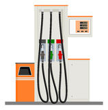 Modern Gas Pump. Isolated vector illustrations Royalty Free Stock Photo