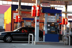 Modern gas station Royalty Free Stock Photos