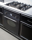 Modern gas stove and oven. Modern large gas stove in luxurious kitchen Royalty Free Stock Images