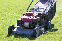 Modern gasoline lawn mower Stock Images