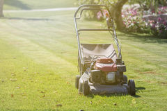 Modern gasoline lawn mower Stock Photography