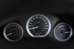 Modern with the gauges on the dashboard of a car Royalty Free Stock Photography