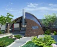 Modern gazebo buiten en in de open lucht het leven gebied, 3D illustratie Stock Foto's