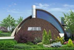 Modern gazebo buiten en in de open lucht het leven gebied, 3D illustratie Royalty-vrije Stock Foto