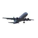 Modern geïsoleerdr vliegtuig Royalty-vrije Stock Afbeeldingen