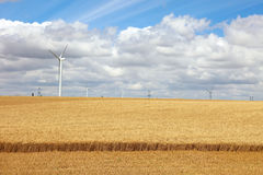 Modern gebied met machtsgenerators. Royalty-vrije Stock Foto