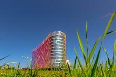 Modern gebogen commercieel centrum Royalty-vrije Stock Foto