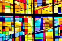 Modern gebrandschilderd glasvenster Stock Fotografie